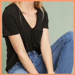 Anthropologie Laidback V-Neck Tee by T.La